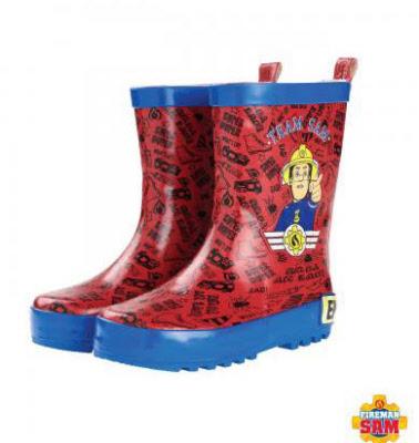 Brandweerman Sam Regenlaarzen (roodblauw)